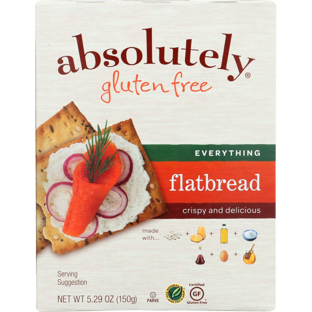 Absolutely Gluten Free Everything Flatbread, 5.29 Oz -- 12 Per Case.