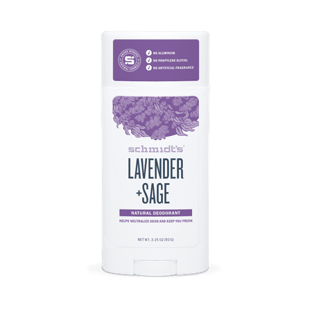 Schmidt's Lavender + Sage Natural Deodorant Stick, 2.65 (Best Rated Natural Deodorant)
