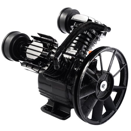 Style Pump Head - GHP 1200RPM 8.8 CFM 3HP 2-Piston V-Style Twin Cylinder Air Compressor Pump Motor Head