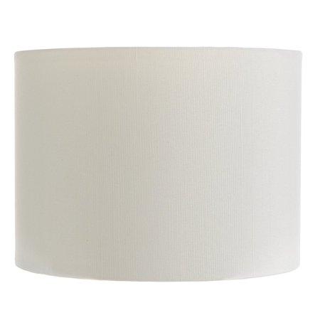 White Silk 5 Inch Retro Barrel Drum Clip on Chandelier Lampshade