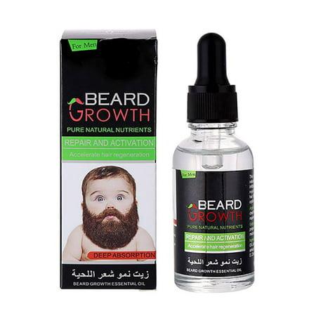 Beard Growth Oil, Mancro Natural Organic Hair Growth Oil Beard Oil Enhancer Facial Nutrition Moustache Grow Beard Shaping Tool Beard Care Products