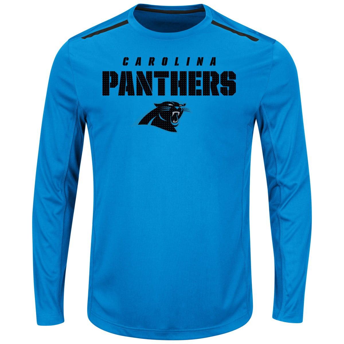 "Carolina Panthers Majestic NFL ""Fanfare IX"" Men's Cool Base L S Shirt by Majestic"