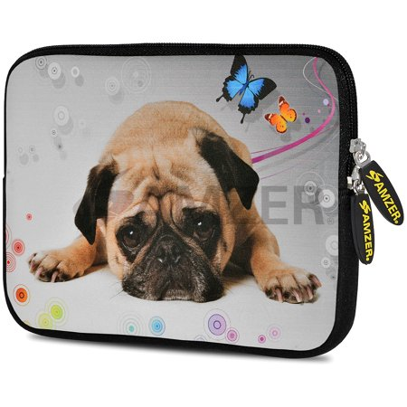 Designer 10.5 Inch Soft Neoprene Sleeve Case Pouch for Apple iPad Pro 9.7, iPad 2, iPad 3, iPad 4 (Fit with Smart Case, Folio Covers) - Cute (Boxer Dog Ipad)