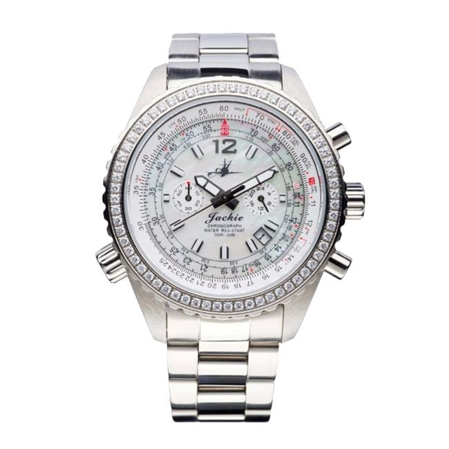Image of Abingdon 0610696150608 Aviatrix Collection Jackie - Dreamy White Stainless Steel Women Watch