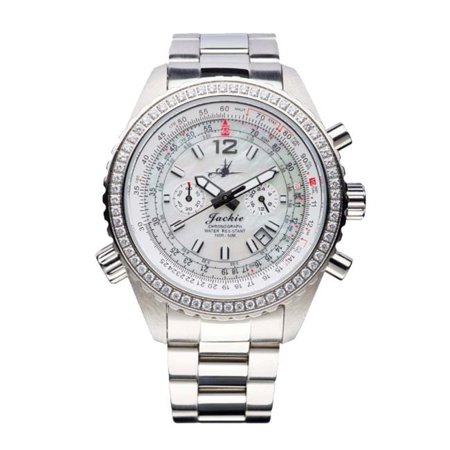 Abingdon 0610696150608 Aviatrix Collection Jackie - Dreamy White Stainless Steel Women Watch