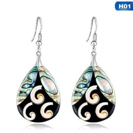 KABOER Silver Earrings Sea Blue Vintage Topaz Dangle Drop Hook Women Jewelry Great Sale