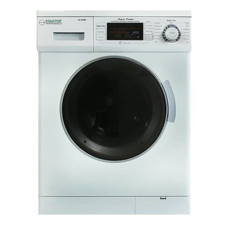 All-in-one 1200 RPM New Version Compact Convertible Combo Washer Dryer in White All In One Dryer