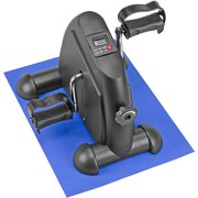 DMI Mini Exercise Bike Fitness Mini Cycle with Mat, Black by Briggs Healthcare