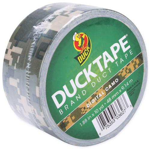 "Patterned Duck Tape 1.88"" Wide 10 Yard Roll-Digital Camo"