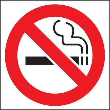 ZING 1840D No Smoking Window Decal Sign, Symbol, PK2