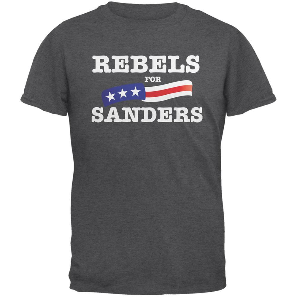Election 2016 Rebels For Sanders Dark Heather Adult T-Shirt
