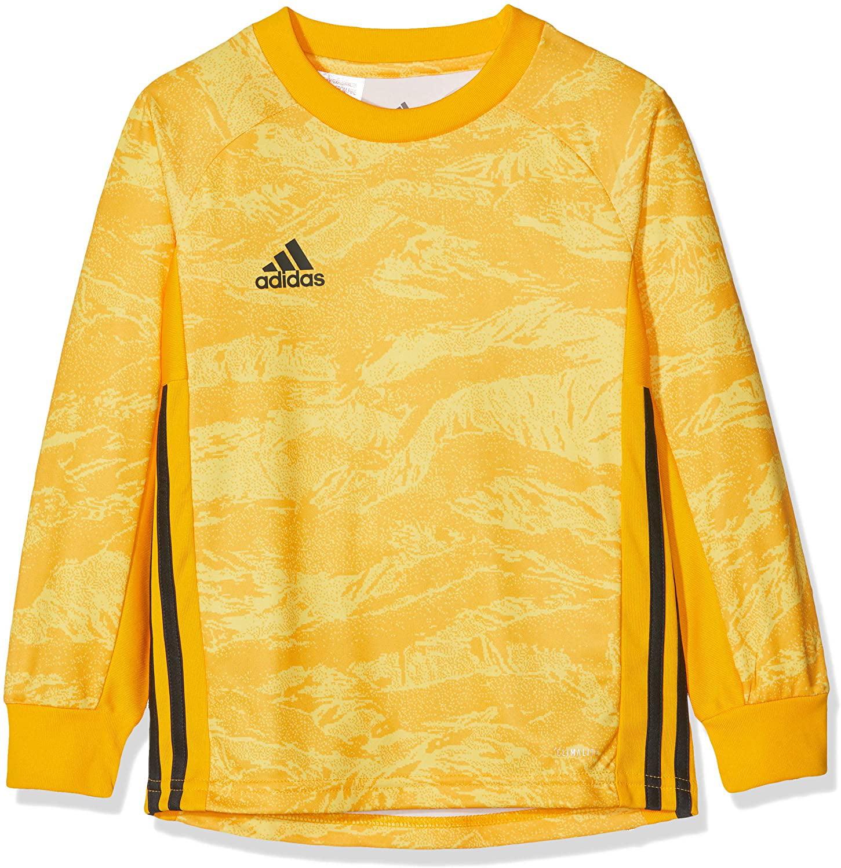 adidas ADIPRO 19 Goalkeeper Jersey Junior GK Shirt Collegiate Gold Yellow for Soccer Goalkeeping