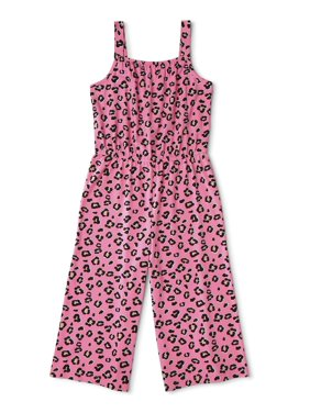 Wonder Nation Girls 4-18 & Plus Sleeveless Soft Yummy Cropped Play Jumpsuit