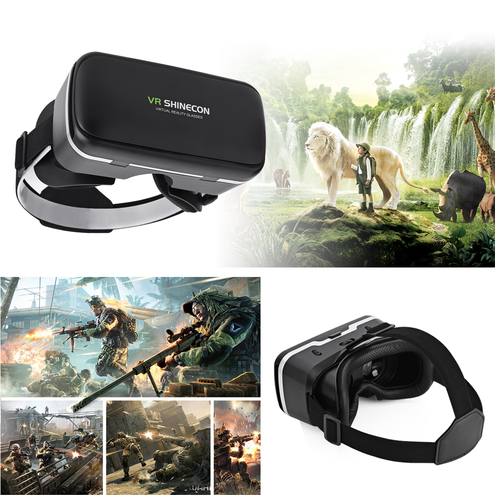 "TOPINCN Virtual Reality Headset 3D VR Glasses Goggles for 4.0""-6.0"" Android iOS WIN Smartphones, 3D VR Goggles, VR Goggles"