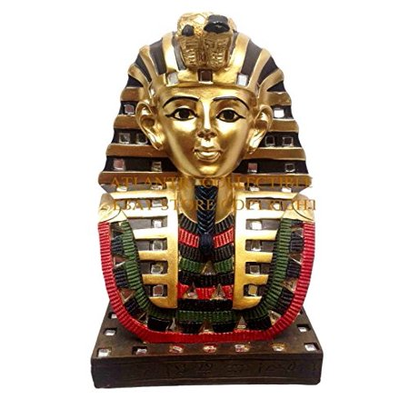 ANCIENT EGYPTIAN PHARAOH KING TUT BUST MASK 6