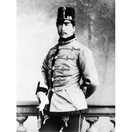 Portrait of Kaiser Wilhelm II in Military Uniform Print Wall Art (Military Portrait)