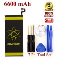 Quantum 6600mAh Extended Slim Battery For Samsung Galaxy S7 with Tool Set