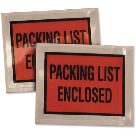 - Quality Park, QUA46895, Full Print Self Adhesive Pack List Envelopes, 100 / Box, Clear,Orange