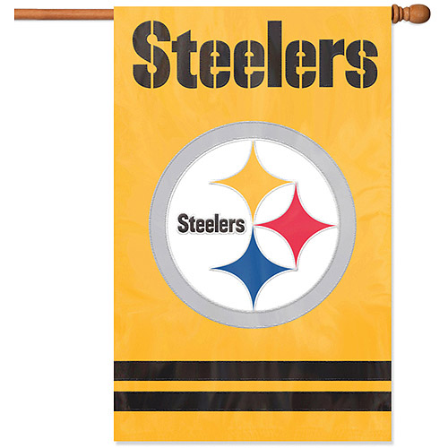 Party Animal Steelers Applique Banner Flag