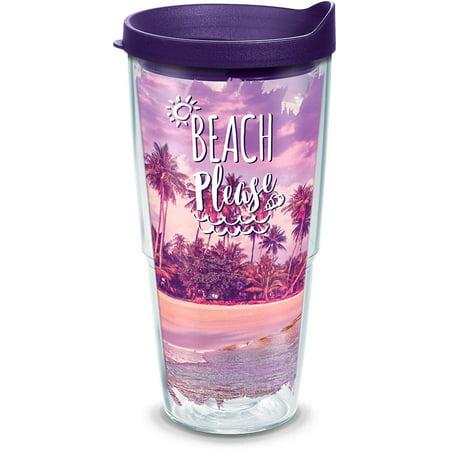 Tervis 24 oz. Beach Please Tumbler With Lid 24 oz. Tumbler (Tervis Tumbler 24)