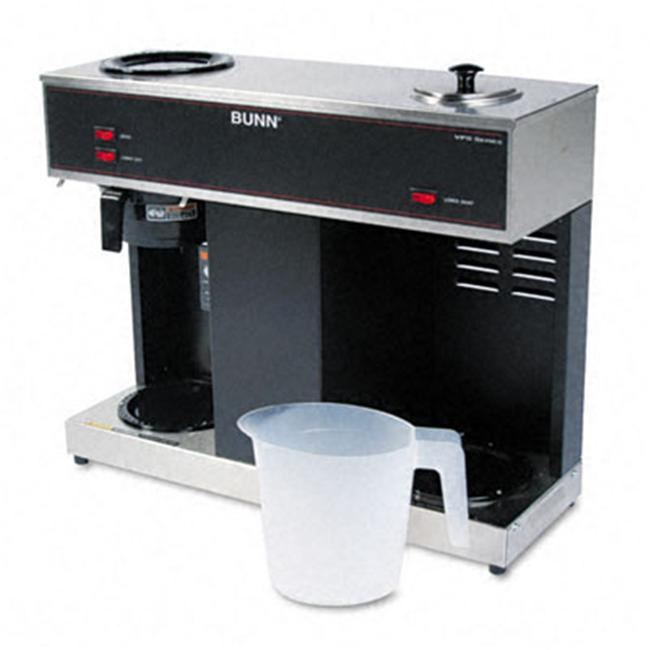 Bunn-O-Matic VPS Pour-O-Matic Three-Burner Pour-Over Coffee Brewer  Stainless Steel and Black