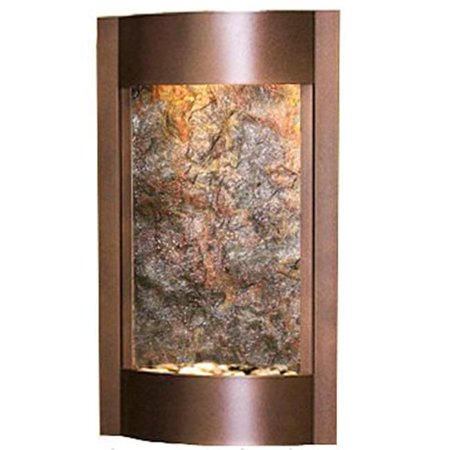 Adagio Water Fountains - Adagio SWA5012 Serene Waters - Green Featherstone Wall Fountain