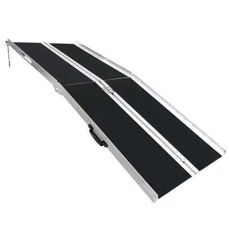 """Clevr Foldable 72"""" X 31"""" Non-Skid Aluminum Wheelchair Loading Traction Ramp 6"""