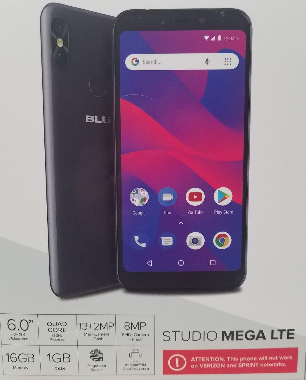 Blu Studio Mega Lte Black