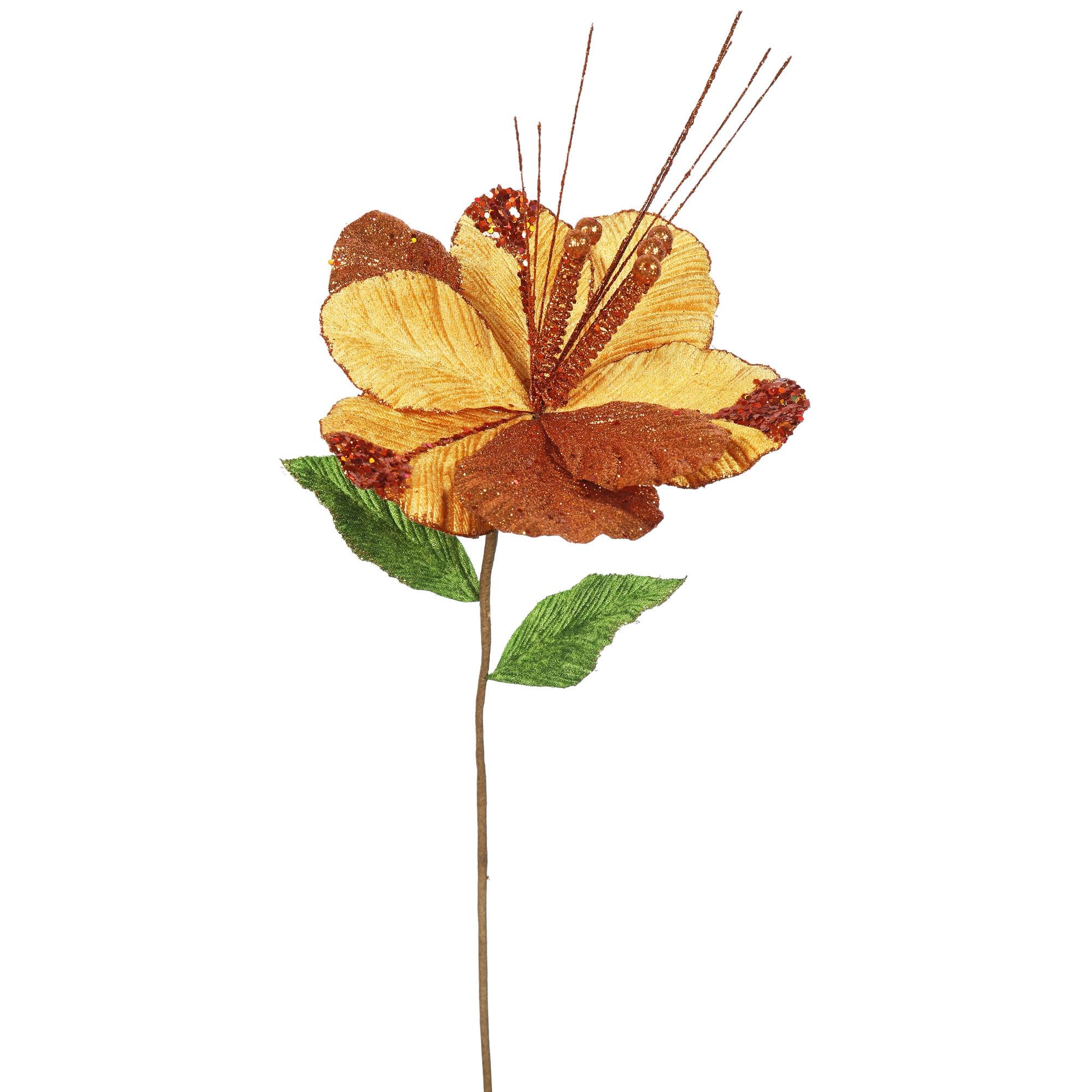 "Vickerman 22"" Copper Amaryllis, 10"" Flower, 6/Bag"