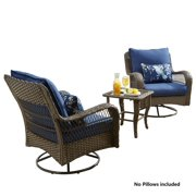 Better Homes and Gardens Outdoor Patio Furniture Colebrook 3 Piece Blue Chat set