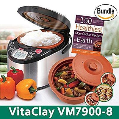 vitaclay vm7900-8 smart organic multi-cooker- a rice cook...