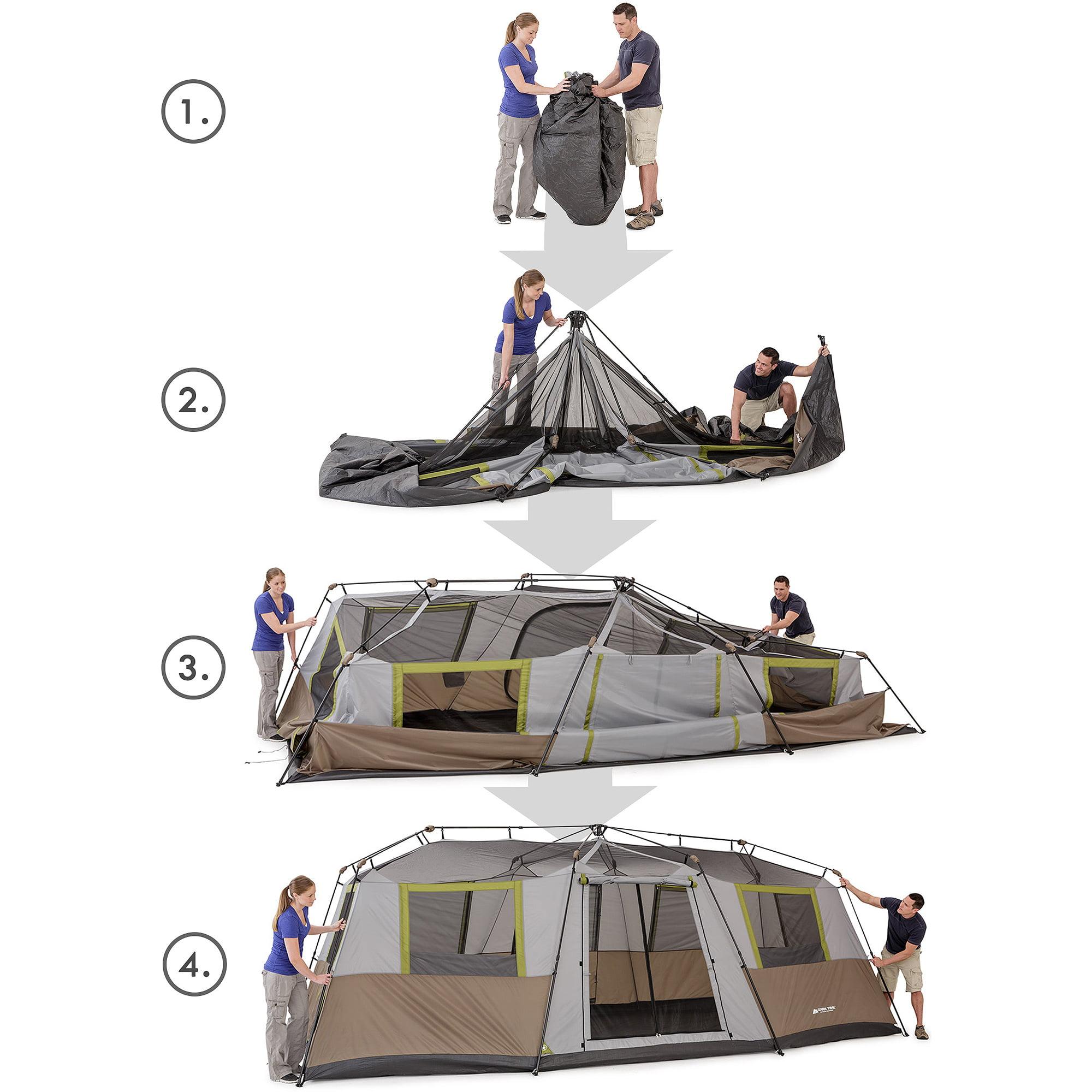 sc 1 st  Walmart & Ozark Trail 10 Person Instant Cabin Tent - Walmart.com