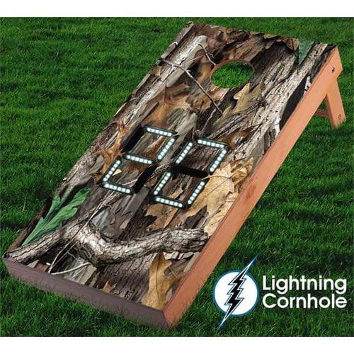 Lightning Cornhole Electronic Scoring Camo Cornhole Board