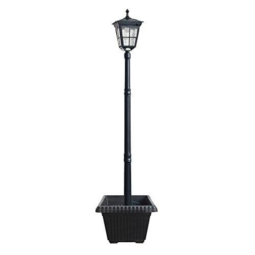 6 Led Cast Aluminum Solar Lamp Post, Outdoor Portable Lamp Post