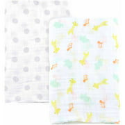 Child of Mine by Carter's Giraffe Family 2-Pack Muslin Blankets