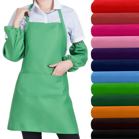 CUH Cooking Kitchen Apron Check Chef Apron with Pocket  Dress for Women Men Adults for Baking Restaurant Tool (50s Aprons For Women)