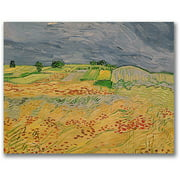 "Trademark Fine Art ""Plain At Auvers, 1890"" Canvas Wall Art by Vincent van Gogh"