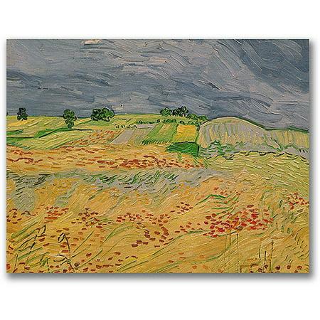 Trademark Fine Art   Plain At Auvers  1890   Canvas Wall Art By Vincent Van Gogh