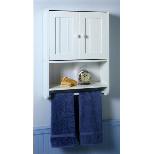 Zenith Products 9114W White Country Cottage Wall Cabinet