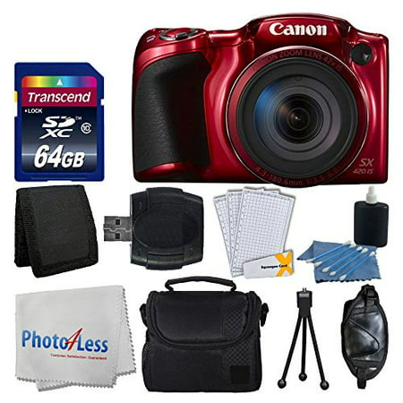 Canon PowerShot SX420 IS 20 MP Digital Camera Red With 42x Optical Zoom And