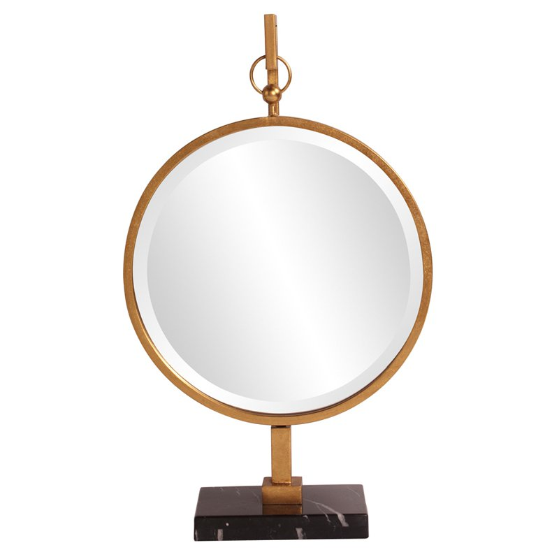 Howard Elliott Medallion Round Mirror Gold 18W x 30H in. by Howard Elliott