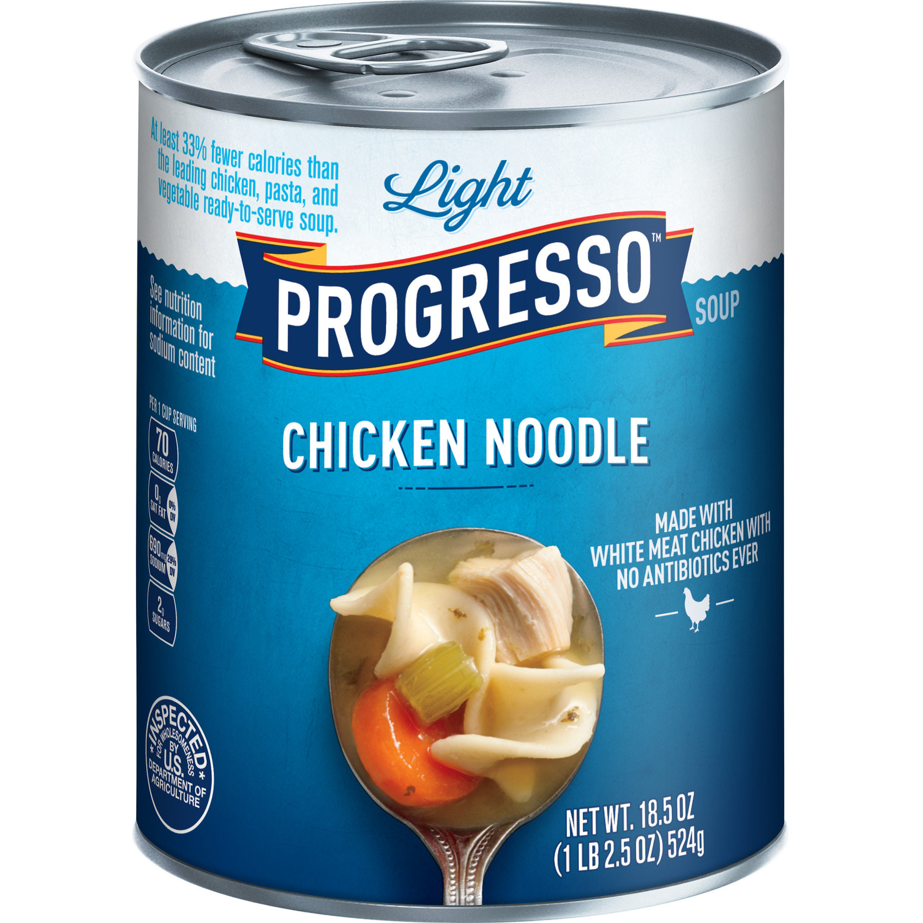 Progresso Soup, Low Fat Light, Chicken Noodle Soup, 18.5 oz Can