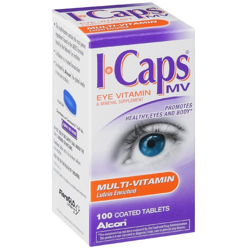 ALCON ICAPS Multivitamin & Mineral Eye Vitamin Supplement - 100 tablets