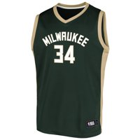 Men's Fanatics Branded Giannis Antetokounmpo Hunter Green Milwaukee Bucks Rival Baseline Jersey