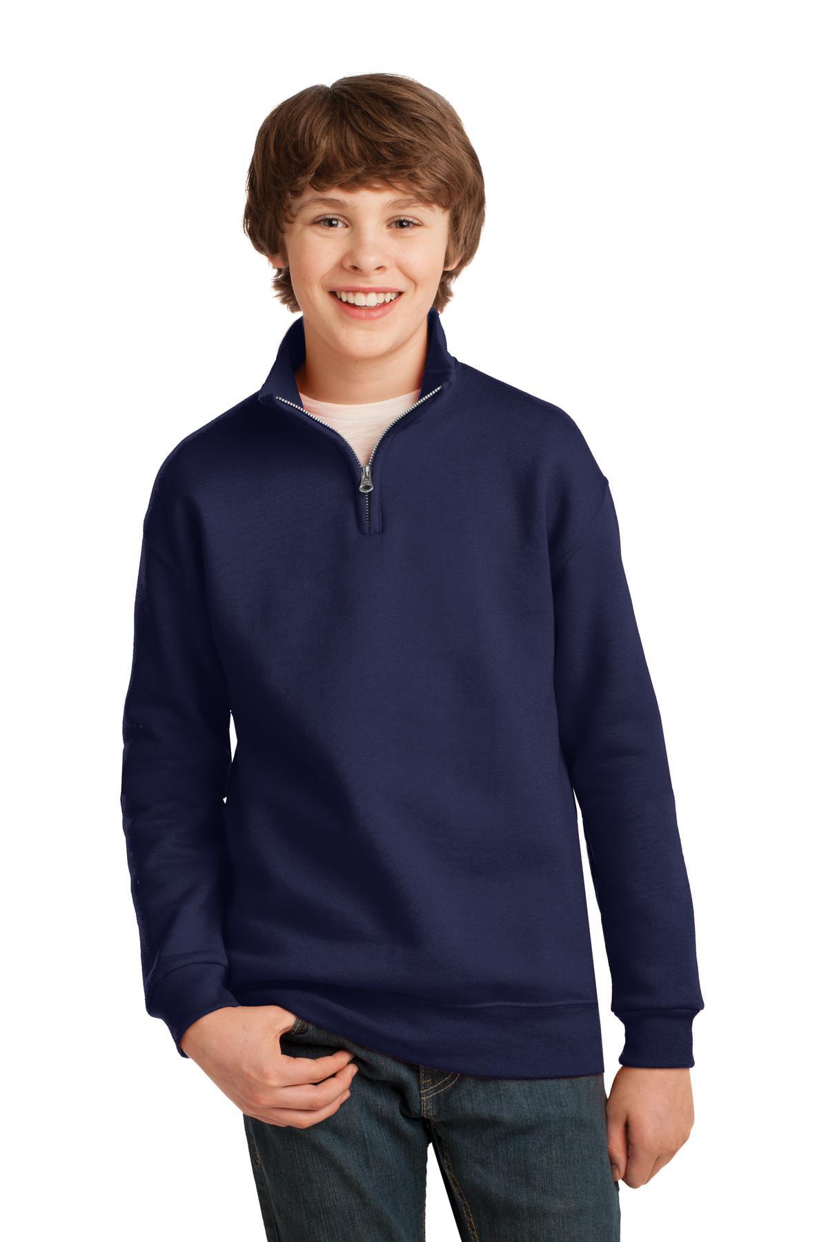 Jerzees Boy's 1/4-Zip Cadet Collar Sweatshirt - 995Y