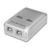 2 Ports USB Switch Box Switcher Selector USB 2.0 Hot-Key Sharing Adapter Hub for PC Mac Computer Scanner Printer Projector Camera Keyboard External Hard Drive & Device with USB-A Interface