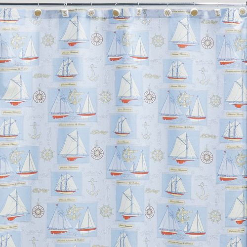 Creative Bath Sailing Shower Curtain