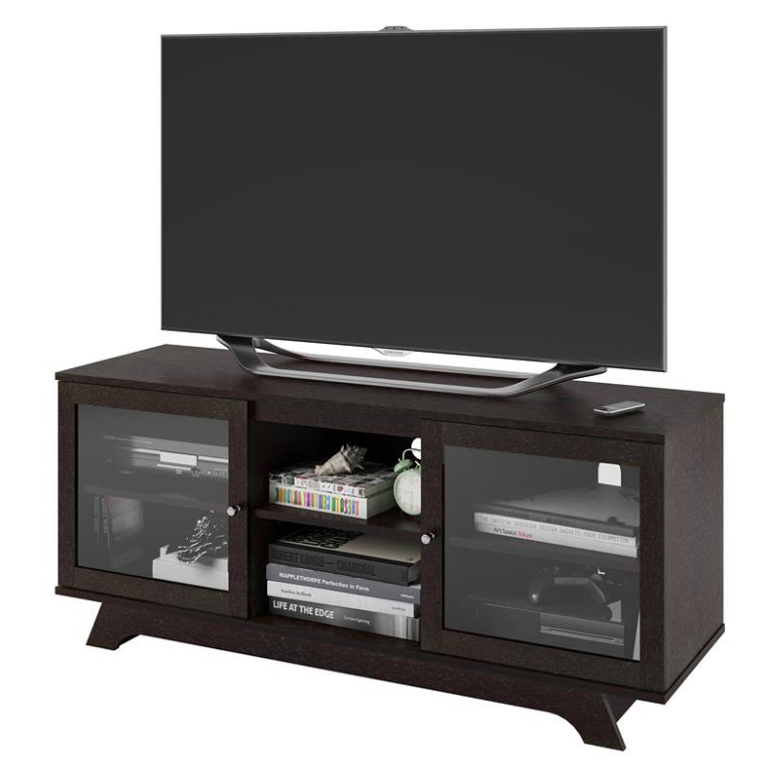 SunTime Outdoor Living Sorento Entertainment Cabinet, Black, 2 Doors/1  Drawer   Walmart.com