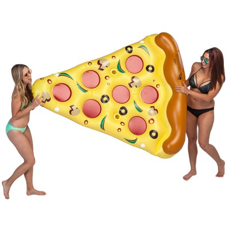Giant 6 x 5 Foot Inflatable Pizza Slice Pool Float - Fun Kids Swim Party Toy - Huge 72