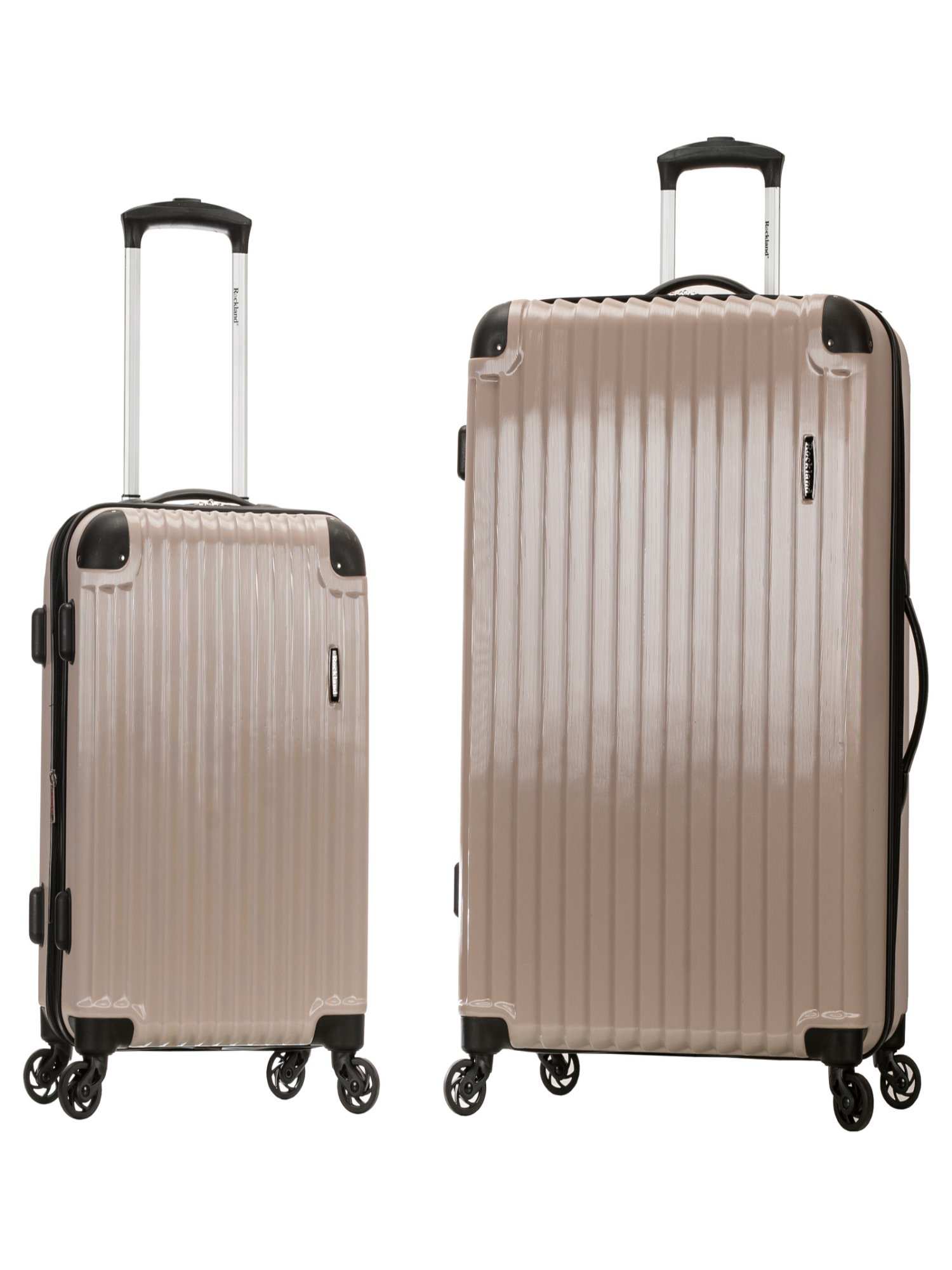 Rockland Luggage Santorini 2 Piece Expandable Hard Sided